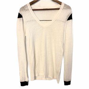Stateside Linen Long Sleeve Shirt White Size Small